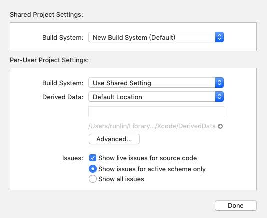 iOS开发之更改Legacy/New Build System(构建系统)
